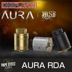 正規品 DIGIFLAVOR AURA RDA 24mm BFピン付き ドリッパーアトマイザー|vapesteez