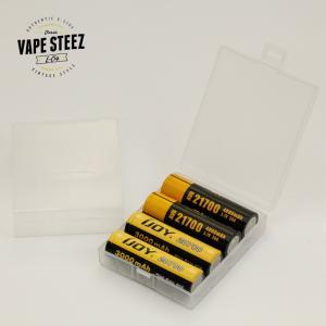 電子タバコ アクセサリー Plastic Storage Case for 20700/21700 Battery 4個分収納 (単品)|vapesteez