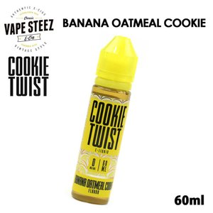 電子タバコ リキッド COOKIE TWIST E-LIQUID | BANANA OATMEAL COOKIE 60ml|vapesteez