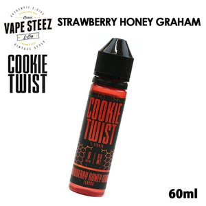 電子タバコ リキッド COOKIE TWIST E-LIQUID | STRAWBERRY HONEY GRAHAM 60ml|vapesteez