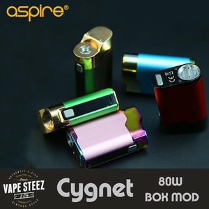 電子タバコ MOD ASPIRE BOX CYGNET 80W BOX MOD 18650バッテリー1本使用 ワッテージ出力MOD vapesteez