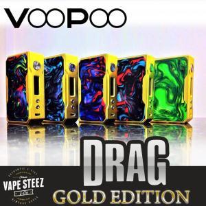 電子タバコ VAPE MOD 正規 VOOPOO DRAG 157 TC BOX MOD Gold Version デュアルバッテリー使用 温度管理機能|vapesteez