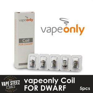 vapeonly社製 coil DWARF 交換専用 アトマイザー用スペアコイル 5個入り|vapesteez