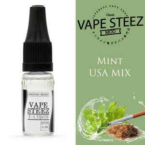 電子タバコ リキッド VAPE STEEZ オリジナルフレーバー Mint USA Mix 送料無料 vapesteez