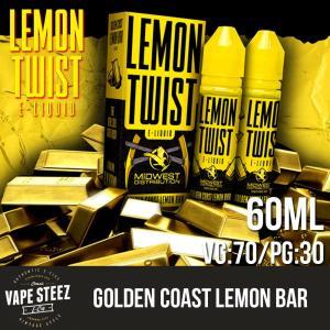 電子タバコ リキッド LEMON TWIST - GOLDEN COAST LEMON BAR 60ml ニコチン0mg|vapesteez
