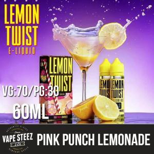 電子タバコ リキッド LEMON TWIST - PINK PUNCH LEMONADE 60ml ピンク・レモネード ニコチン 0mg MADE IN USA|vapesteez
