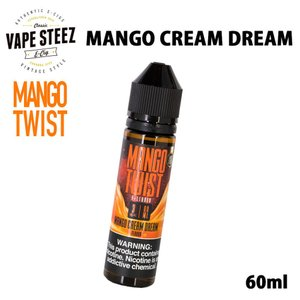 電子タバコ リキッド MANGO TWIST E-LIQUID | MANGO CREAM DREAM 60ml マンゴー クリーム ドリーム lemon twist MADE IN USA|vapesteez