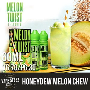電子タバコ E-リキッド MELON TWIST HONEYDEW MELON CHEW 60ml ハニーデューメロン MADE IN USA|vapesteez