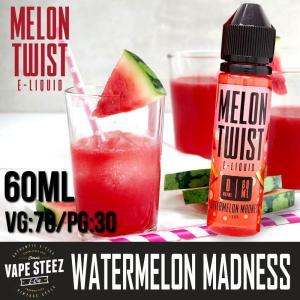 電子タバコ E-リキッド MELON TWIST WATERMELON MADNESS 60ml ウォーターメロンマッドネス MADE IN USA|vapesteez