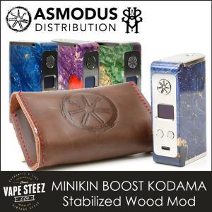 電子タバコ MOD asMODus MINIKIN BOOST KODAMA Version Stabilized Wood MOD 180W Box Mod|vapesteez