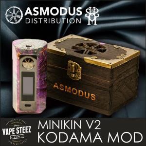 電子タバコ MOD asMODus MINIKIN V2 KODAMA Version Stabilized Wood MOD 180W Box Mod|vapesteez