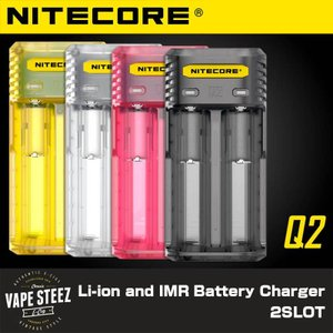 リチウムイオンバッテリー 充電器 NITECORE Q2 クイックチャージャー 2000mA対応|vapesteez