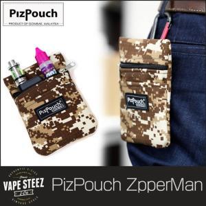VAPEケース ( PIZ POUCH ) ZIPPER MAN ジッパーマン VAPE STEEZ ツールポーチ 電子タバコ ツールバッグ VAPE ピズポーチ|vapesteez