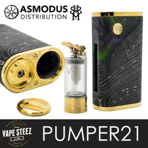 電子タバコ MOD ASMODUS アズモダス PUMPER21 パンパ―21 SQUONKER MOD 80W 20700/21700シングルタイプ MADE IN USA|vapesteez