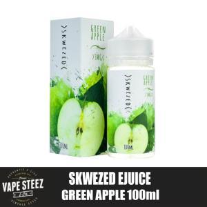 電子タバコ リキッド SKWEZED - GREEN APPLE 100ml (グリーンアップル) フルーツ系リキッド ニコチン 0mg MADE IN USA|vapesteez