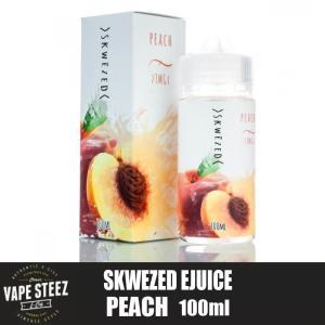 電子タバコ リキッド SKWEZED - PEACH 100ml (ピーチ) フルーツ系リキッド ニコチン 0mg MADE IN USA|vapesteez
