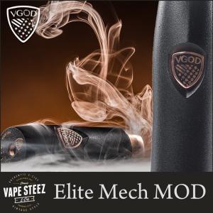 正規品 VGOD ELITE MECH MOD 24mm メカニカルMOD 18650バッテリー スモークトリック VAPEトリック|vapesteez