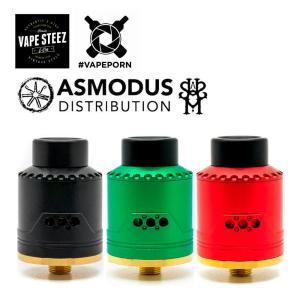 電子タバコ アトマイザー Asmodus x Vapeporn VICE RDA 24mm サイドエアフロー BF対応 デュアルコイル DTL シングルポスト 爆煙 vapesteez
