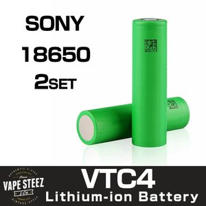 電子タバコ 用 リチウムイオン バッテリー Sony US18650 VTC4 2100mAh Li-Mn 30A (Pulse-60A) vapesteez