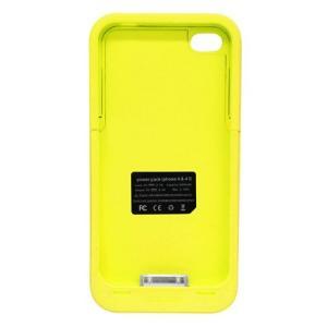 (ジャンク)TMY iPhone4/4S用カバー カラーコレクション 充電機能付 イエロー CV-03-YL _.|vaps