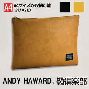 ANDY HAWARD 日本製 豊岡製鞄 クラッチバッグ セカンドバッグ バッグインバッグ A4 34cm No23470-10 キャメル  ___|vaps
