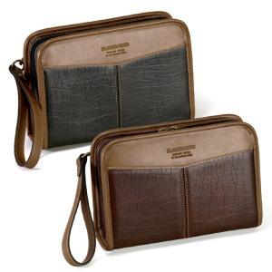 BLAZER CLUB(ブレザークラブ) 日本製 豊岡製鞄 セカンドバッグ セカンドポーチ メンズ 22cm No25550-04 チョコ  ___ vaps