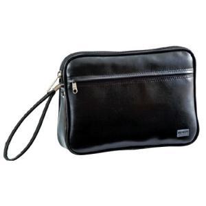 G-GUSTO(Gガスト) クラッチバッグ 日本製 合皮 ビジネス メンズ 24cm No25627-01 黒  ___ ___|vaps