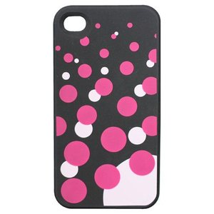 TMY iPhone4/4S用カバー カラーコレクション ソーダドット ブラック CV-01BK _|vaps