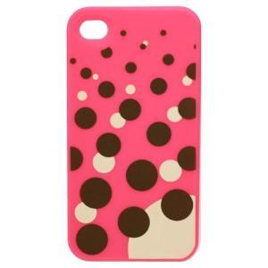 TMY iPhone4/4S用カバー カラーコレクション ソーダドット レッド CV-01RD _|vaps