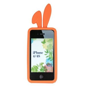 TMY iPhone4/4S用カバー カラーコレクション ロップイヤー オレンジ CV-02OR _|vaps