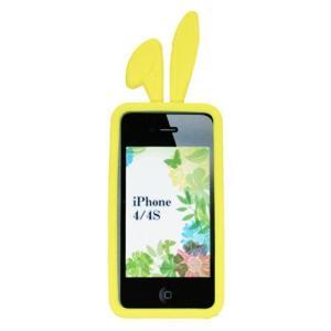 TMY iPhone4/4S用カバー カラーコレクション ロップイヤー イエロー CV-02YL _|vaps