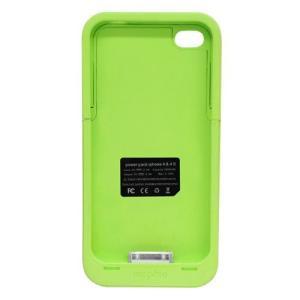 TMY iPhone4/4S用カバー カラーコレクション 充電機能付 グリーン CV-03-GN _.|vaps