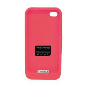 TMY iPhone4/4S用カバー カラーコレクション 充電機能付 レッド CV-03-RD _.|vaps