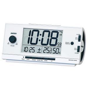 セイコー 電波目覚まし時計 NR534W(白) デジタル 大...