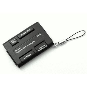 エアージェイ xportermobile スーパーマルチ充電変換アダプター iphone スマートフォン FOMA CDMA対応 CA-4X4 _|vaps