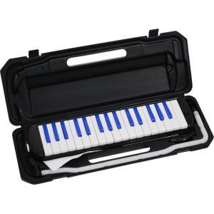 KC キョーリツ 鍵盤ハーモニカ メロディピアノ 32鍵 ブラック/ブルー P3001-32K/BKBL (ドレミ表記シール・クロス・お名前シール付き) __ vaps
