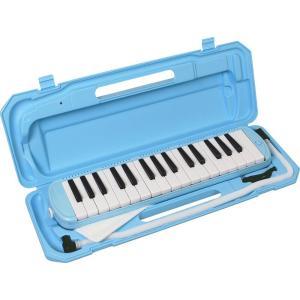 KC キョーリツ 鍵盤ハーモニカ メロディピアノ 32鍵 ライトブルー P3001-32K/UBL (ドレミ表記シール・クロス・お名前シール付き) __|vaps