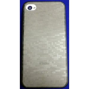 baw&g iPhone 4/4S用 0.35mm薄型ケース&フィルムセット IP4S-SC10TSU TETSU(ブラックグレー) _|vaps