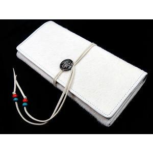 (訳あり)VenDome 稀少ハラコ毛使用 長財布 《ホワイト》 メンズ 本革 ウォレット FA-222 _|vaps