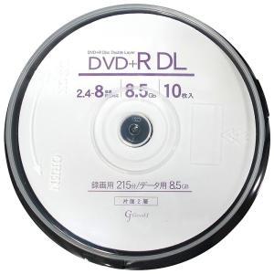 Good-J DVD+R DL CPRM非対応 データ&ビデオ対応(8.5GB/215min) 2.4-8倍速 10枚 スピンドルケース GJDL+8X10PW _|vaps