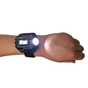 強力ライト付き 腕時計 200ルーメン USB充電式 時計 防災 _|vaps