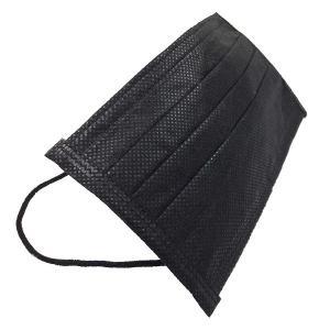 黒 マスク 使い捨て タイプ 50枚セット 不織布製 三層構造式 おしゃれ  _