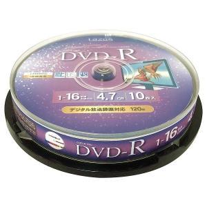 LAZOS DVD-R CPRM録画用 10枚 スピンドルケース入 L-C10PW _|vaps