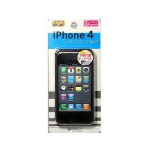 iPhone4専用◆シリコンケース◆CA-IP401BK _|vaps