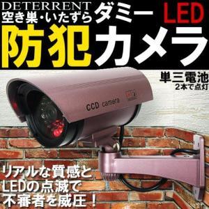 赤色LEDが常時点灯本物にしか見えませんCCDダミー防犯カメラ(パープル) __|vaps