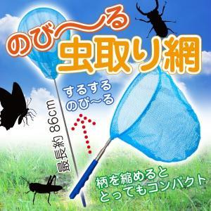 柄がスルスルのびーる 虫取り網 木の上や草むらの採集もらくらく 昆虫採集 虫取り _ vaps