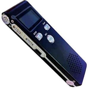 軽量ボイスレコーダー スピーカー搭載 4GB 《ブラック》 ICレコーダー _|vaps
