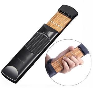 ポケットサイズ 練習用ギター 6弦 4フレット 収納バッグ付き _ vaps