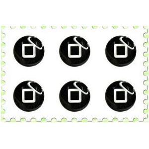 iPhone/iPad/iPod touch★デコシール★ホームボタンステッカー HBS6P-P09★ _|vaps