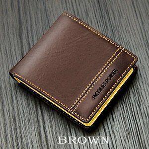 ジャック・ポワリエ 牛革二つ折り財布-フランスの伝統- JP-5003 《ブラウン》 _|vaps